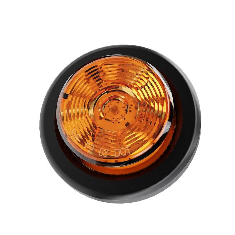 Waterproof Polycarbonate Reflector SAE//DOT Certified Abrams 2 Amber 10 LED Side Marker Trailer Lights Round Clearance Light IP67 Submersible 1 Pack 2 in 1 Reflector For Trucks /& Trailers